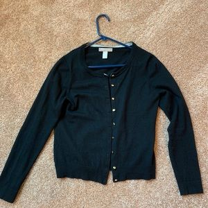 Black Banana Republic Merino Wool Cardigan